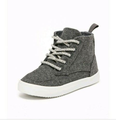 wool blend high tops for toddler boys