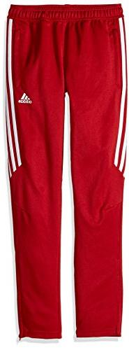 adidas Youth Soccer Tiro 17 Pants, Large - Power Red/White