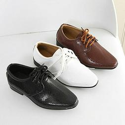 Leather For Boys Children Wedding Shoes Formal Wedge Sneaker