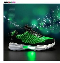 LED Shoes For Girls Boys USB Charging Light Up Shoe For Glow