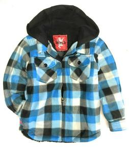 Little Boys' Plaid Fleece Lined Hooded Jacket by Courage USA