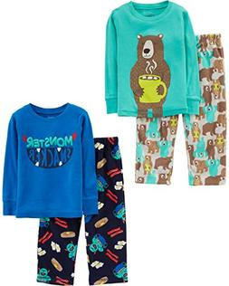 Simple Joys by Carter's Boys' Little Kid 4-Piece Pajama Set,