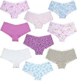 Lot 6 Womens Girl Hipster Boyshorts Panties Cotton Underwear