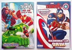 lot of 2 avengers coloring and activity