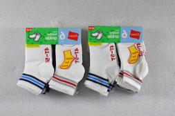 LOT OF 2, Toddler Baby Boy's Hanes Ankle Socks, 6 Per Pack,