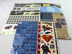 lot of 5 designing done for you scrapbook page kits Superman