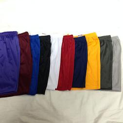 Men's Mesh Jersey Athletic Fitness Workout Colors Shorts wit