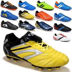 Mens Boys Soccer Cleats Shoes Football Indoor TF Sports Trai