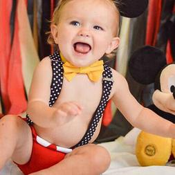 Mickey Mouse First Birthday Cake Smash Outfits Photo Props C