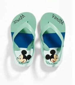 Disney Mickey Mouse Flip-Flops for Toddler Boys Size 7 NEW H