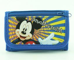 Mickey Mouse Kids Wallet for Boys Trifold with Zip Coin Purs