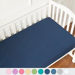TILLYOU Microfiber Silky Soft Crib Sheets Boy, Fitted Toddle