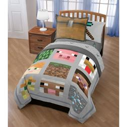 Minecraft Bedding Set For Boys Video Game Comforter Full Que