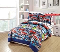 Mk Home 5Pc Twin Size Comforter Set For Boys Heroes On Call