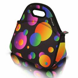 Neoprene Lunch Bag Tote Reusable Healthy Lunch Boxes Suit fo