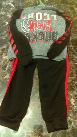 NEW 2 Piece Hooded Sweater Sweatpants For Toddler Boy 2T Fal