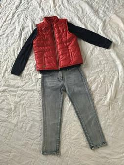 NEW 7 For All Mankind 7FAM Boys 3 Piece Set Jeans, L/S Shirt