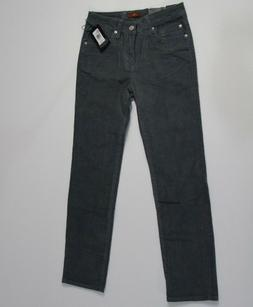 NEW 7 For All Mankind Boys Pants-Gray Slimmy Skinny Velvet -