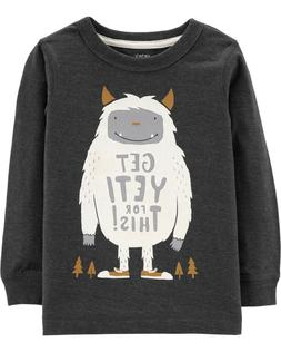 New Carter's Boys Get Yeti For This Gray Monster Top 3T 4T 5