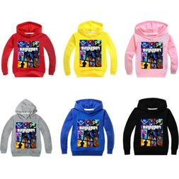 New Cartoon Print For#nite Sweatshirt Hoodie Kids Boys Grils