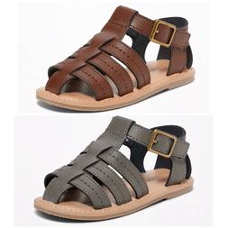 NEW Old Navy Faux Leather Fisherman Sandals for Toddler Boys