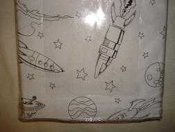 New BOY ZONE FULL Sheet Set OUTER SPACE,ROCKETS,PLANETS,SPAC