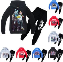New Kids Boys 3D Game Print Long Sleeve Hoodies+Pants A Suit