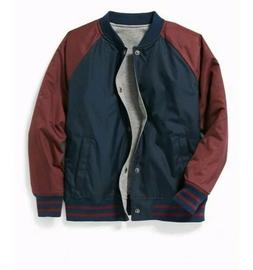New Old Navy Reversible Bomber Jacket For Boys Size XL