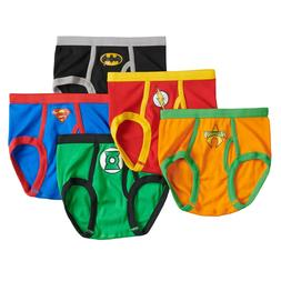 NEW -  Justice League 5-Pack Boys Cotton Briefs DC Comics