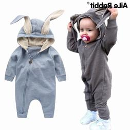 New Spring Autumn Baby Rompers Cute Cartoon Rabbit Infant Gi