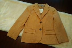 NWT Boys Janie & Jack 5T Tan Wool Blend lined Blazer / Jacke