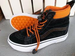 NWT VANS BOYS/YOUTH SK8-MTE SNEAKERS/SHOES SIZE 13.ORANGE/BL