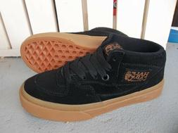 NWT VANS BOYS/YOUTH UY HALF CAB SNEAKERS/SHOES SIZE 13.BLACK