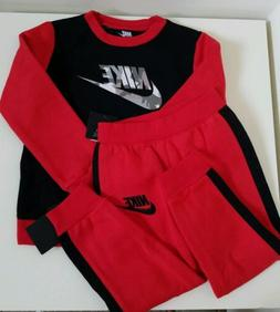 NWT Nike Little Boys 2Piece Pant Set Black Red Size 4T