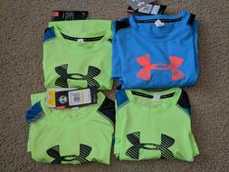 NWT Under Armour Long Sleeve big Logo Tee for Boy Youth