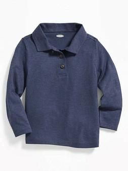 Old Navy Long Sleeve Jersey Polo for Toddler Boys - SIZE 3T