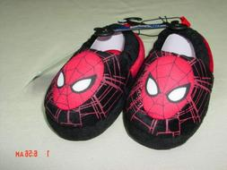 NWT Toddler Boys Spider Man Scuff Slippers New Unused Warm F