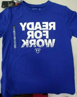 NWT YXL BOYS Under Armour UA Heatgear BLUE Baseball T Loose