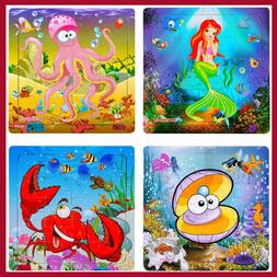 Puzzles for Kids Ages 3-5 Toddlers Ages 4-8 Animals Wooden B