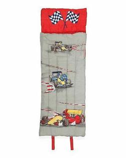 Boy Zone Race Cars Sleeping Bag, Indy Car Grand Prix Theme f