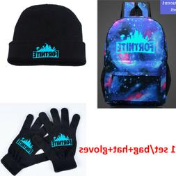 Royale Battle Full Set Backpack Rucksack Hat Cap Black Glove