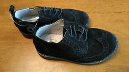 BABY GAP  SHOES SIZE 7 TODDLER  BOYS BLACK SUEDE WINGTIP OXF