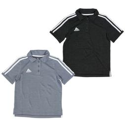 adidas Short Sleeve Active Polo Shirt for Boys - 3 Button Pl