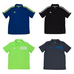 Adidas Short Sleeve Athletic Polo Shirt for Boys - 3 Button