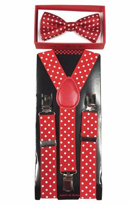 Simple & Elegant Suspender and Bow Tie Set for Boys Girls Ch