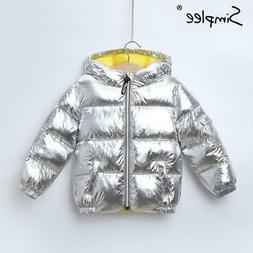 Simplee Children winter thick warm jacket for girls boys Hoo