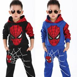 Spider-man 2pcs kids baby spring casual clothing for boys ho