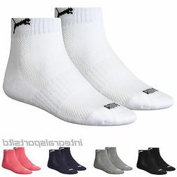 PUMA Sports Socks Cushioned Match Quarters  UK Sizes 2.5 up