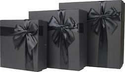 Cypress Lane Square Gift Boxes with Ribbon, 11 inches, a Nes