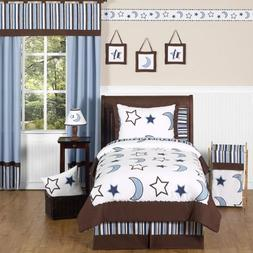 Stars and Moons Kids Bedding 4pc Boys Twin Set